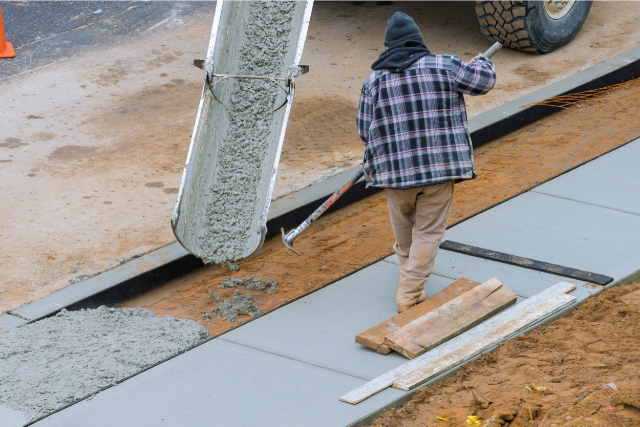 Concrete Leveling worker on a project